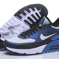 Nike Air Max 90 Ultra Mid Winter Black White Blue Men Running Shoes Sneaker 924458 300 002