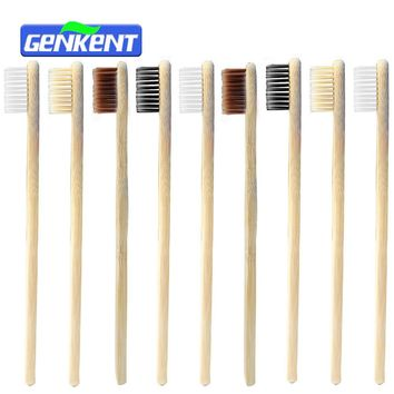 10PCS Low-carbon Green Natural Bamboo Toothbrush