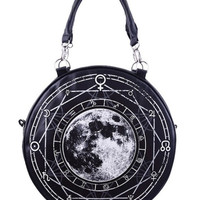 Luna Full Moon Round Hand Bag Purse
