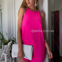 Julia Claire Shift Dress (Pink)