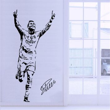 Football Star Cristiano Ronaldo Celebration Silhouette Wall Sticker Student Dormitory Bedroom Wall Decoration Poster Sticker D38