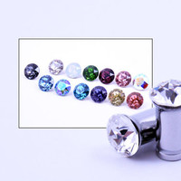 2g 4g 6g 1 Pair Plugs Made With Swarovski Elements 316L Single Flare Tunnels Crystal Gauges Wedding Bridal Plugs Gauges Tunnels