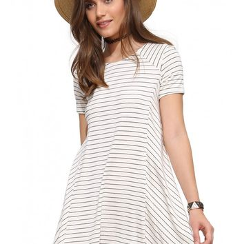 Lush Striped T-Shirt Dress