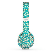 The Blue and Yellow Floral Pattern V43 Skin Set for the Beats by Dre Solo 2 Wireless Headphones