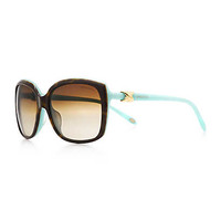 Tiffany & Co. - Tiffany Signature™ square sunglasses in tortoise and Tiffany Blue® acetate.