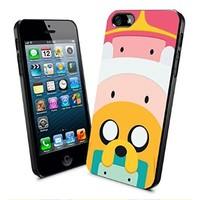 Adventure Time Jack and Finn and Bubblegum Face Iphone and Samsung Galaxy Case (iPhone 5/5s Black)