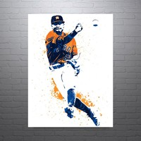 Jose Altuve Houston Astros Poster