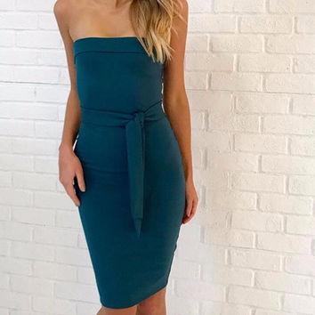 Charlotte Cartier Strapless Dress