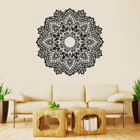 Wall Decal Vinyl Sticker Decals Art Decor Design Mandala Ganesh Indian Ornament Buddha Pattern Damask Bedroom Family Gift Dorm Modern(r1004)