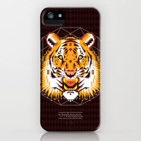 Geometric Tiger iPhone Case by chobopop | Society6