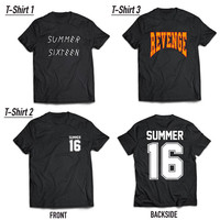 2 PACK - Drake and Future Revenge Summer 16 Sixteen Tour Premium Cotton OVO T-Shirt - Black - LARGE