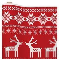 Natt Christmas Red Deer Fabric By The Yard