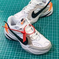 Off White X Nike Air Monarch The M2k Tekno White Retro Sneakers - Best Online Sale