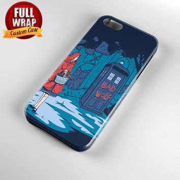 Tardis Little Red Riding Hood Full Wrap Phone Case For iPhone, iPod, Samsung, Sony, HTC, Nexus, LG, and Blackberry