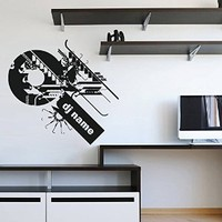 ik1318 Wall Decal Sticker DJ electronic music techno bedroom living room recording studio