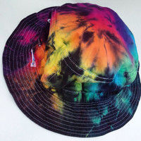 Rainbow TieDye Bucket Hat by 2dye4designs on Etsy