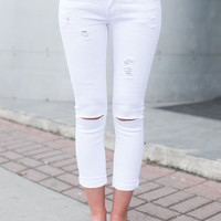 The Celine White Jean