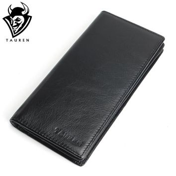 Genuine Leather Men's Wallet Long Design Multifunctional Men Purse