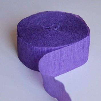 Purple Crepe Paper 81FT Party Streamer Wedding Birthday Baby Shower Decoration