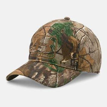 Under Armour Men's UA Stalker Hunting Camo Stretch Fit Flex Cap Hunt Hat