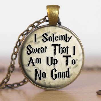 I Solemnly Swear That I Am Up To No Good Harry Potter Necklace