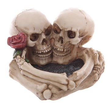 Skull With Rose Lovers Ashtray