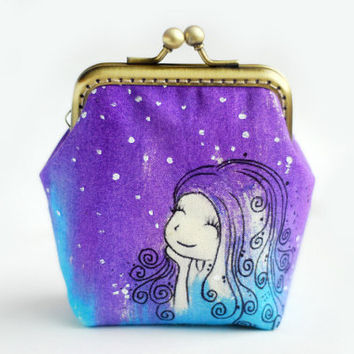 Make a wish Whimsical Sky Mermaid Purse by lazydoll on Etsy