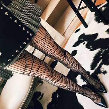 Fashion Temptation Irregular Fish Net Socks Hollow Mesh Stockings Pantyhose Tights