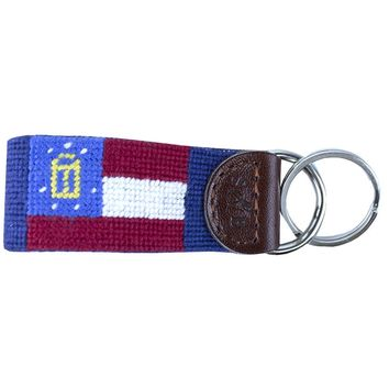 Georgia Flag Needlepoint Key Fob by Smathers & Branson