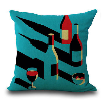 Vintage art deco throw pillow covers.