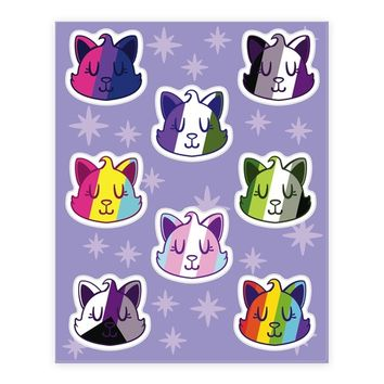 LGBTQ CAT STICKER