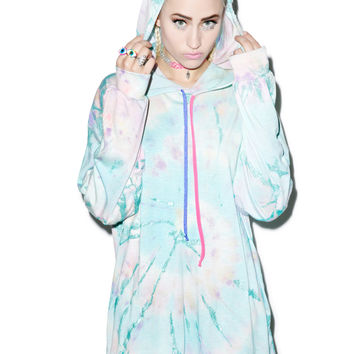 Mamadoux Metallic Tie Dye Hooded Shirt Multi One