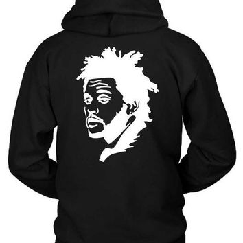 The Weeknd Stencil Black And White Hoodie Two Sided