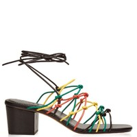 Multi-strap block-heel leather sandals | Chloé | MATCHESFASHION.COM US