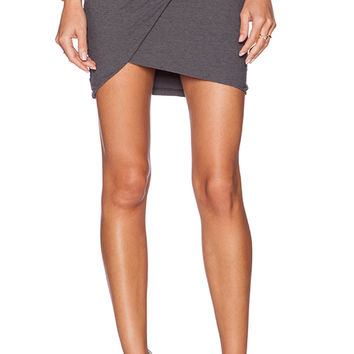 James Perse Twisted Mini Skirt in Charcoal