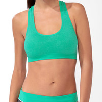 Ribbed Metallic Sports Bra