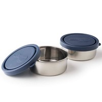 Round Containers Small (Set Of 2) - Ocean
