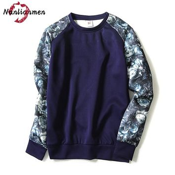 2017 Rushed Full O-neck New Casual Floral Sweatshirt Men Sudadera Hombre Mens Sweatshirts Moleton Masculino Male Poleron Hombre