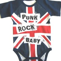 Okutani UK Flag Baby Onesuit Kids Clothing at Broken Cherry