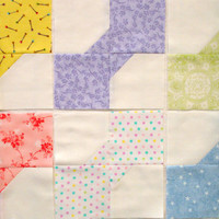 Pastel Baby Bow Tie Quilt Blocks