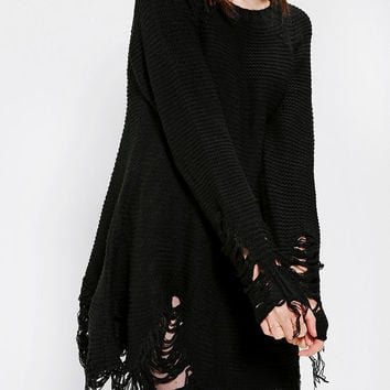 Urban Outfitters - UNIF Come Down Torn-Hem Sweater Dress
