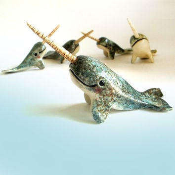 Narwhal Sculpture - ceramic figurine