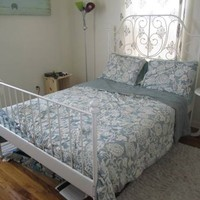 Full Size White Ikea Bed Frame with Base