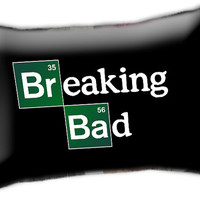 """Breaking Bad TV Series Black Case Cover Pillow Size 30"""" x 20"""""""