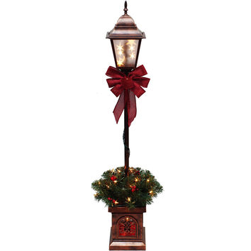 Holiday Time Pre-Lit 4' Christmas Lamp Post Tree, Clear Lights