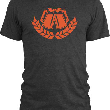 Big Texas Beer Steins (Orange) Vintage Tri-Blend T-Shirt