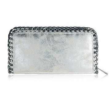 Metallic Wallet Clutch
