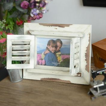 Vintage White Rustic Window Wooden Picture Photo Frame