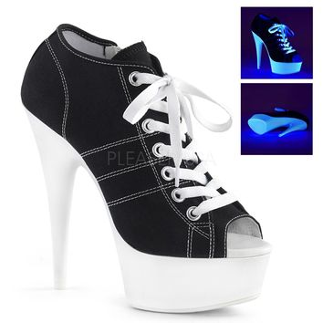 Platform Canvas Sneakers 6 Inch Heels- Stripper Shoes