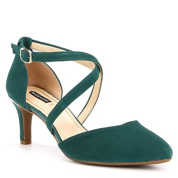 Alex Marie Taliena Suede Cross Strap Pumps | Dillards
